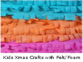 Kids Christmas Crafts with Felt/Foam