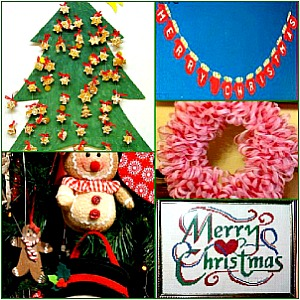 Country christmas crafts homemade christmas decorations crafts with fabric solutioingenieria Images