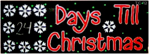 How Many Days Left Until Christmas.Days Till Christmas Make A Christmas Countdown Clock