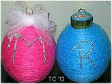 Initial Yarn Ornament1