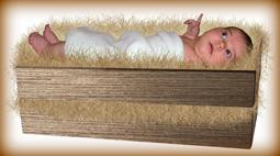 baby in manger