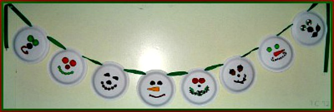 Paper Plate Snowman Garland Paper Crafts For Kids