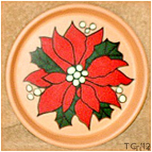 Poinsettia Plate2