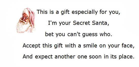 Secret santa poems clever sayings spiritdancerdesigns