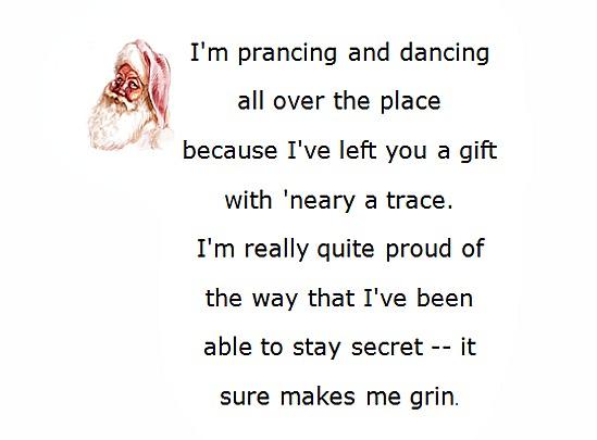 Secret santa poems clever sayings spiritdancerdesigns Image collections