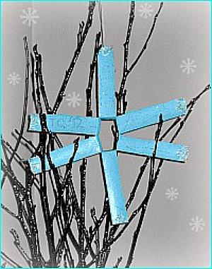 Toilet Paper Roll Snowflake