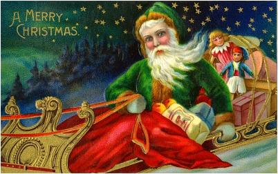 Green Suit Santa