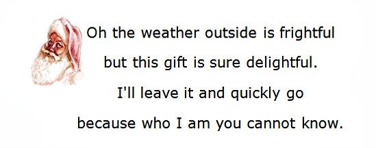 Secret Santa Poems, Clever Sayings