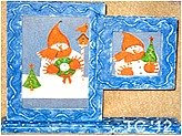 Snowman Double Frame