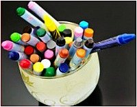Wax Crayons Jar