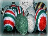 Yarn Christmas Balls1