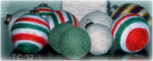 Yarn Christmas Ball2